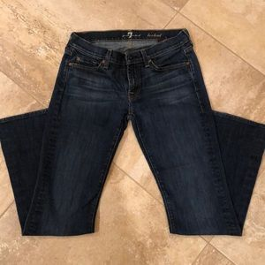 Bootcut 7 For All 7 Mankind Dark Blue Jeans